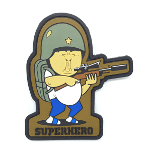 superhero PVC patch