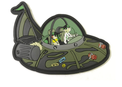 Rick and Morty UFO pvc patch