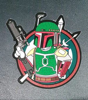 Boba Fett Vinyl Sticker Star Wars