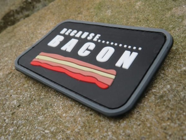 Because bacon patch on rocks