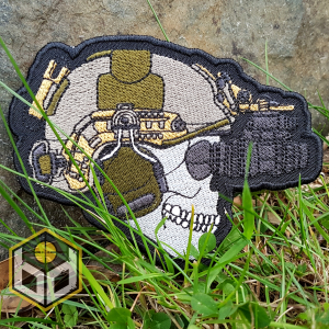 Alpha patch embroidered