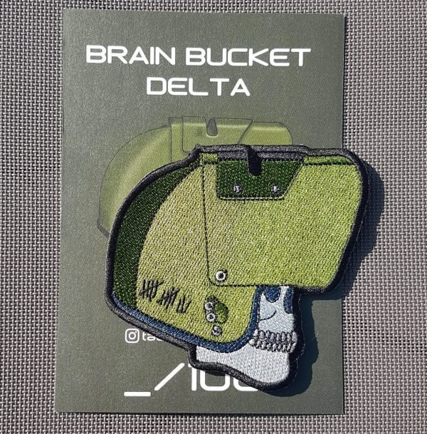 Delta embroidered with card