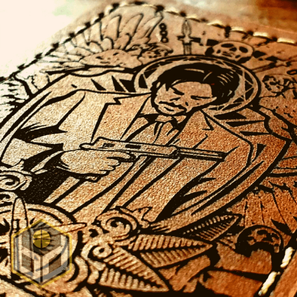 Wick leather patch